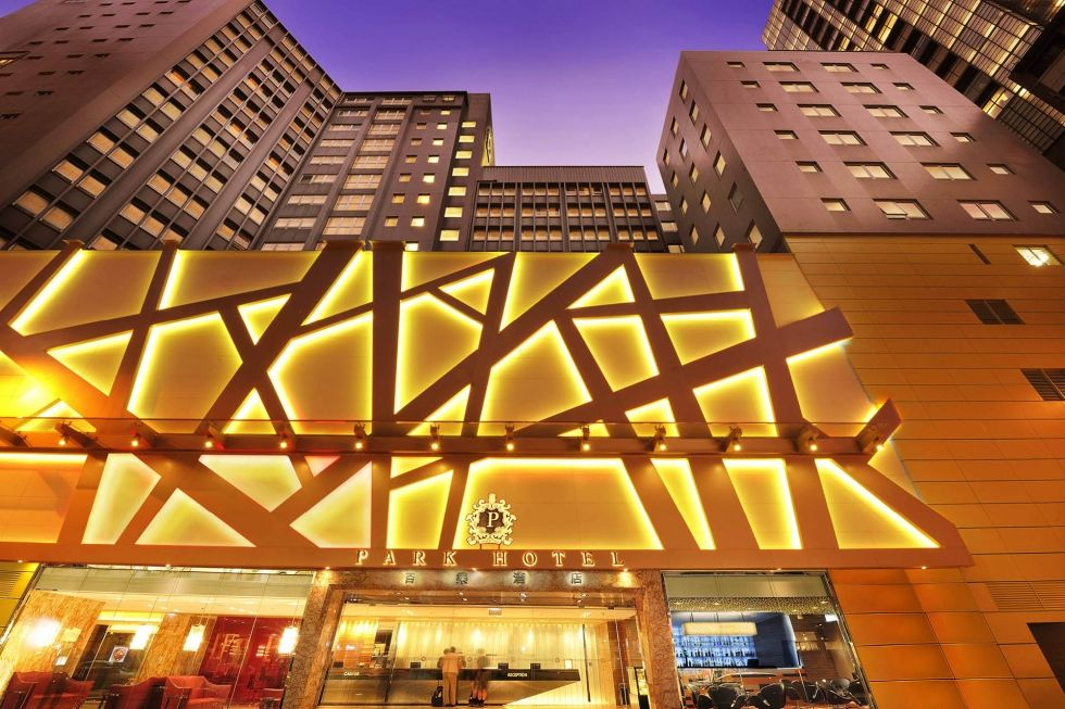 main entrance at Park Hotel Hong Kong