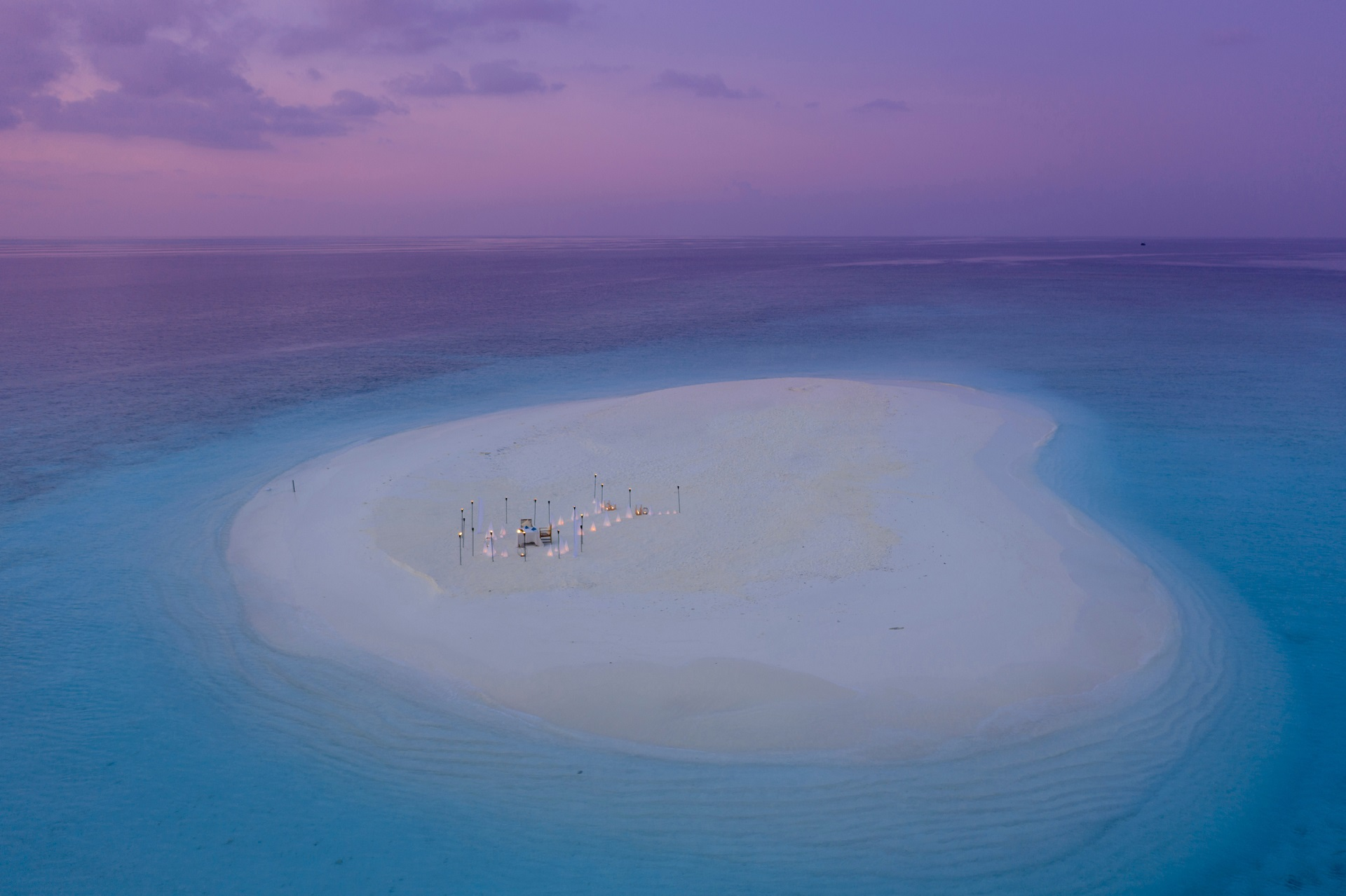 Dining in the Maldives with panoramic views