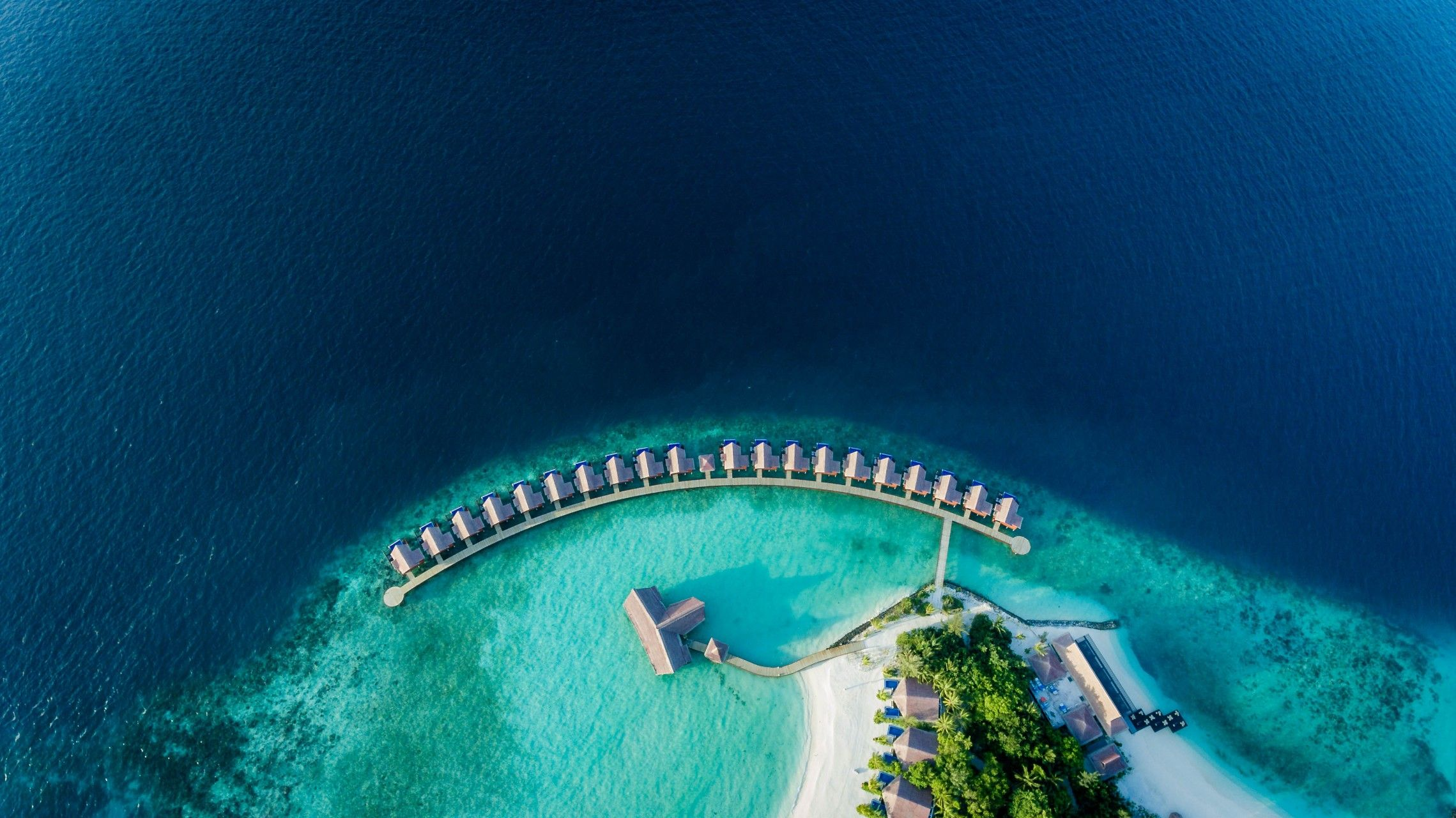 Resort aerial view of Grand Park Kodhipparu Maldives