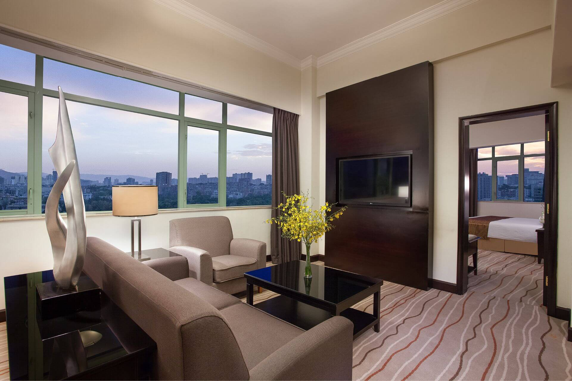 Crystal Club Suite Living Room at Grand Park Kunming