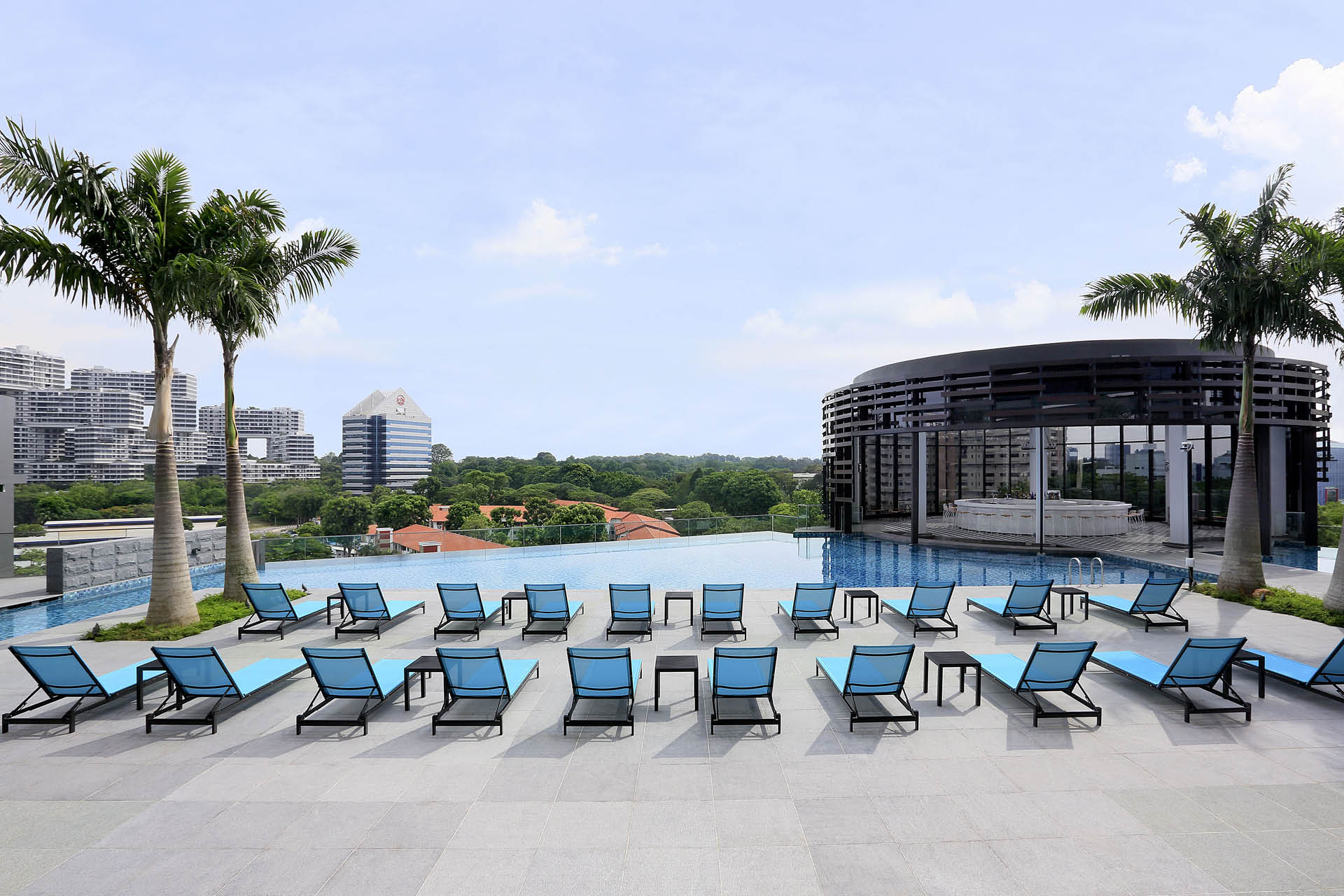 Pool deck at Park Hotel Alexandra Singapore
