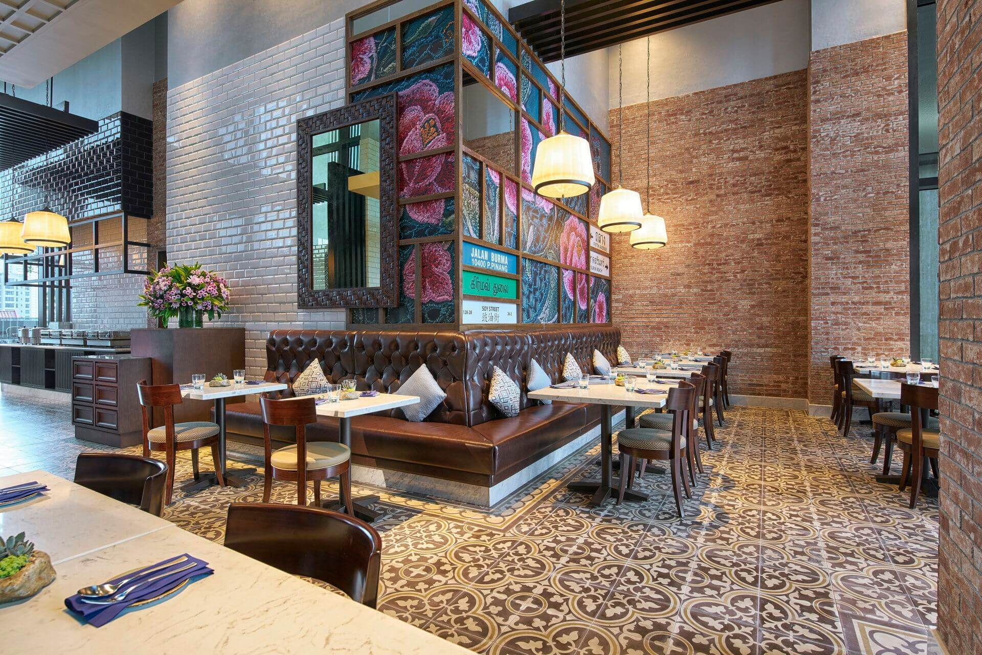 Thai influenced blue jasmine restaurant at Farrer Park Singapore